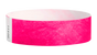 "A Tyvek®  3/4"" x 10"" Sheeted Solid Neon Pink wristband"