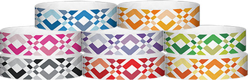 "Tyvek® 3/4"" X 10"" Argyle Wristbands"