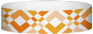 "A Tyvek® 3/4"" X 10"" Argyle Neon Orange wristband"