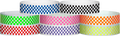 "Tyvek® 3/4"" x 10"" Checkerboard pattern wristbands"