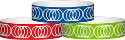 "Tyvek® 3/4"" x 10"" Coil pattern wristbands"