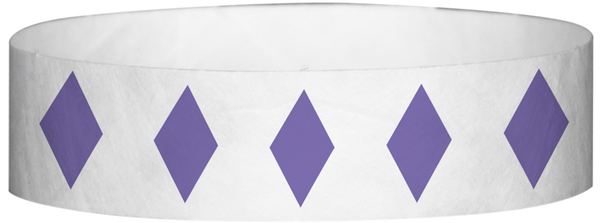 "A Tyvek® 3/4"" X 10"" Diamond Purple wristband"