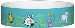 "Tyvek® 3/4"" x 10"" Easter pattern wristbands"