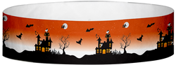 "Tyvek® 3/4"" x 10"" Haunted House pattern wristbands"