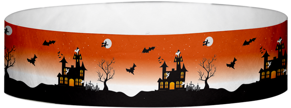 "A Tyvek® 3/4"" X 10"" Haunted House Wristband"