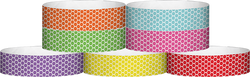 "Tyvek® 3/4"" x 10"" Honeycomb pattern wristbands"
