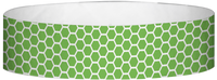"A Tyvek® 3/4"" X 10"" Honeycomb Green wristband"