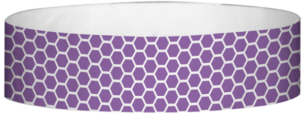 "A Tyvek® 3/4"" X 10"" Honeycomb Purple wristband"