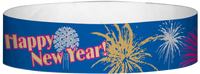 "A Tyvek® 3/4"" X 10"" New Years Wristband"