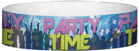 "A Tyvek® 3/4"" X 10"" Party Time Club Multicolored wristband"
