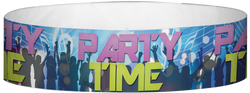 "Tyvek® 3/4"" x 10"" Party Time Club pattern wristbands"