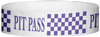 "A Tyvek® 3/4"" X 10"" Pitt Pass Checker Purple wristband"