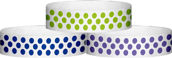 "Tyvek® 3/4"" x 10"" Polka Dot pattern wristbands"