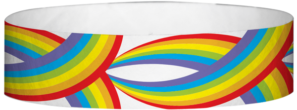 "A Tyvek® 3/4"" X 10"" Rainbow Multicolored wristband"