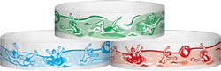 "Tyvek® 3/4"" x 10"" Splash pattern wristbands"