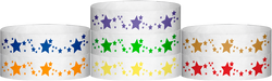 "Tyvek® 3/4"" x 10"" Stars pattern wristbands"