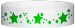 "A Tyvek® 3/4"" X 10"" Stars Neon Lime wristband"