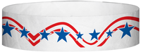 "A Tyvek® 3/4"" X 10"" Stars And Stripes Wristband"