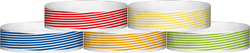 "Tyvek® 3/4"" x 10"" Stripes pattern wristbands"