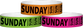 "Tyvek® 3/4"" x 10"" Sunday pattern wristbands"