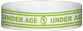 "Tyvek® 3/4"" x 10"" Under Age pattern wristbands"