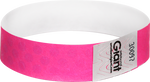 "Tyvek® 3/4"" x 10"" Polka Dot Radiance Neon Pink wristbands"