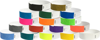 "Tyvek® 3/4"" Solid 17-Color Wristbands"