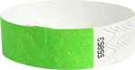 "A Tyvek® 3/4"" solid Neon Lime wristband"