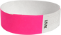 "A Tyvek® 3/4"" solid Neon Pink wristband"