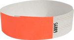 "A Tyvek® 3/4"" solid Neon Sunfire wristband"