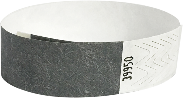 "A 3/4"" Tyvek® litter free solid Silver wristband"