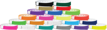 "Vinyl 1/2"" x 11 1/2"" 1-Stub Snapped Wristband Solid Edge Glow wristbands"