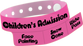 "Custom Vinyl 1 1/4"" x 9 1/4"" 3-Stub Edge Glow One Color Imprint Snapped wristbands"