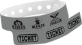 "Custom Vinyl 1 1/4"" x 9 1/4"" 3-Stub One Color Imprint Snapped wristbands"