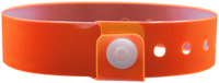"A Vinyl 3/4"" x 10"" L-Shape Snapped Solid Edge Glow Orange wristband"