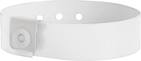 "Vinyl 3/4"" x 10"" L-Shape Snapped Solid wristbands"