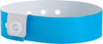 "A Vinyl 3/4"" x 10"" L-Shape Snapped Solid Neon Blue wristband"