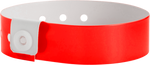 "A Vinyl 3/4"" x 10"" L-Shape Snapped Solid Neon Red wristband"