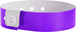 "A Vinyl 3/4"" x 10"" L-Shape Snapped Solid Purple wristband"
