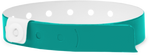 "A Vinyl 1/2"" x 11 1/2"" 1-Stub Snapped Solid Teal wristband"