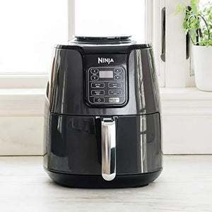 Ninja Air Fryer, 1550-Watt Programmable Base for Air Frying, Roasting, Reheating & Dehydrating with 4-Quart Ceramic Coated Basket - Prep it