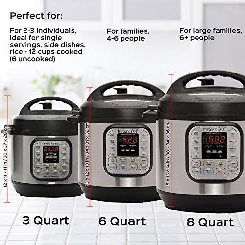 Instant Pot Duo Mini 3 Qt 7-in-1 Multi- Use Programmable Pressure Cooker, Slow Cooker, Rice Cooker, Steamer, Yogurt Maker and Warmer - Prep it