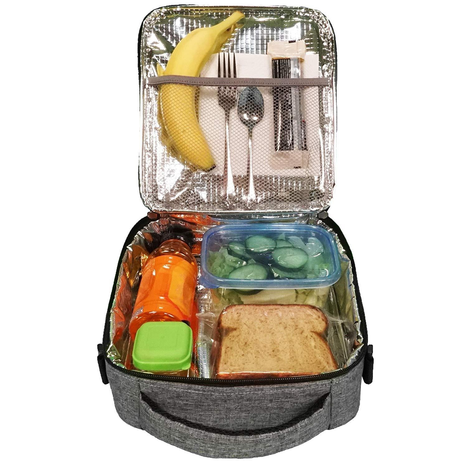 Durable Insulated Prepit Lunch Box (Charcoal Gray) - Prep it