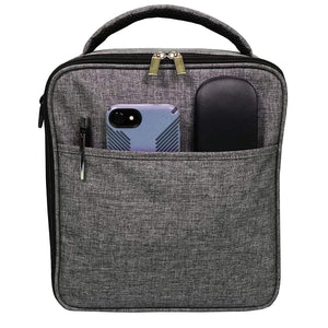 UPPER ORDER Durable Insulated Lunch Box Tote Reusable Cooler Bag (Charcoal Gray)