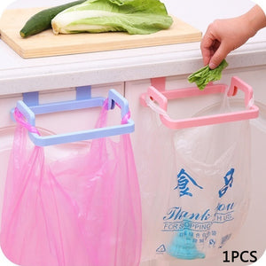 1PC Plastic Garbage Bag Rack Portable Hanging Trash Rubbish Bag Storage Rack Holder Kitchen Gadgets Storage Rack dropshipping - Prep it
