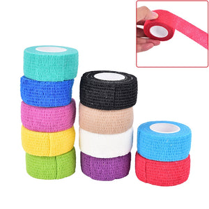 Elastic Adhesive First Aid Tape Self-Adhering Bandage Wraps Gym Bodybuild Workout Fitness Support For Women Men 2.5m x 4.5cm - Prep it