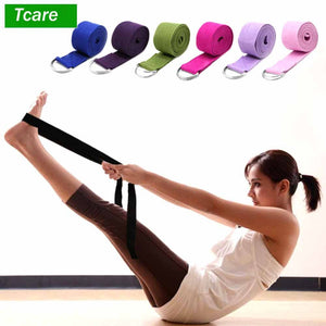 1Pcs Body Massage Relaxation Yoga Strap Adjustable Stretch Strap D-Ring Belts Providing Flexibility for Yoga Physical Therapy - Prep it