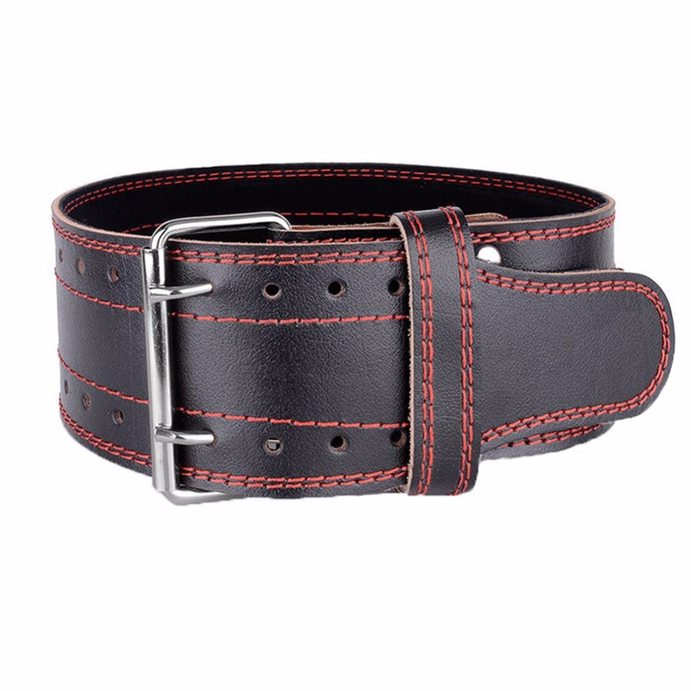 Genuine Leather Weight lifting Belt Gym Training Fitness Waist Back Support Squat Power Weightlifting Equipment for Men Women - Prep it