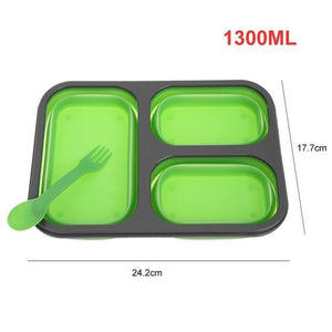 3 Grid Folding Silicone Lunch container - Prep it