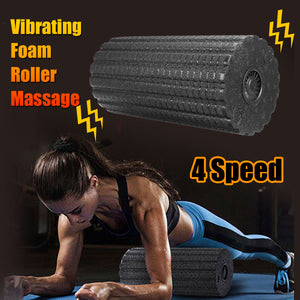Kift Yoga Foam Roller Pilates Block Fitness Yoga Column Fitness Roller Body Slimming Massage Roller Electric Vibration Massager - Prep it